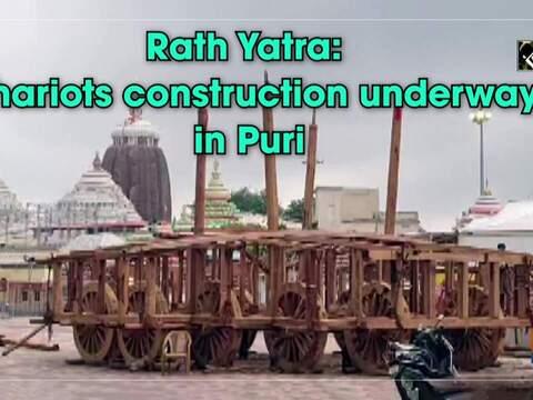 Rath Yatra: Chariots construction underway in Puri