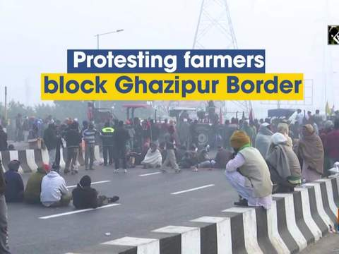 Protesting farmers block Ghazipur Border