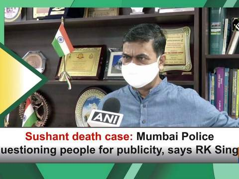 Sushant death case: Mumbai Police questioning people for publicity, says RK Singh