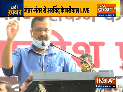 Delhi CM Arvind Kejriwal lead AAP protest against introduction of NCT Bill