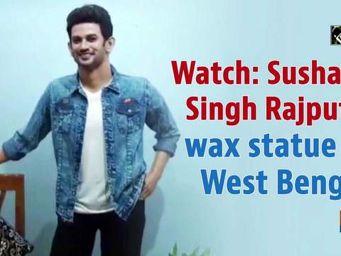 Watch: Sushant Singh Rajput's wax statue in West Bengal