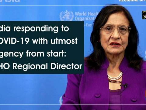 India responding to COVID-19 with utmost urgency from start: WHO Regional Director