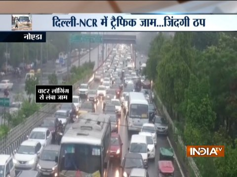 Delhi/NCR rains: Ghaziabad road caves in; massive water-logging, traffic jam in national capital