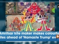 Amritsar kite maker makes colourful kites ahead of 'Namaste Trump' event