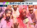 UP CM Yogi Adityanath, Congress MP Navjot Singh Sidhu celebrate Holi