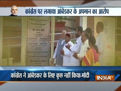 Congress tried to erase Dr Ambedkar's legacy, says PM Modi