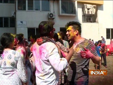 Holi celebration in Mathura, Varanasi, Haryana and other cities