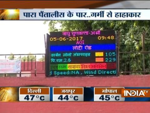 Intense heat grips North India, temperature rises to 48 degree celsius