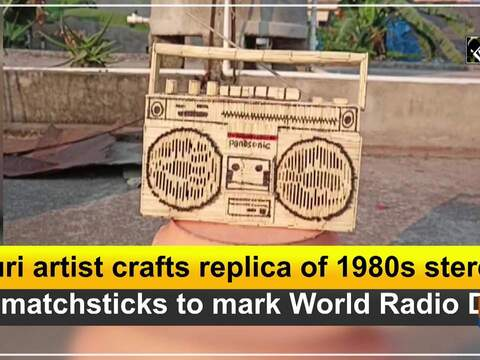 Puri artist crafts replica of 1980s stereo by matchsticks to mark World Radio Day