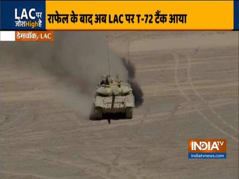 Indian Army deploys T-90 & T-72 tanks along with BMP-2 Infantry Combat Vehicles near LAC
