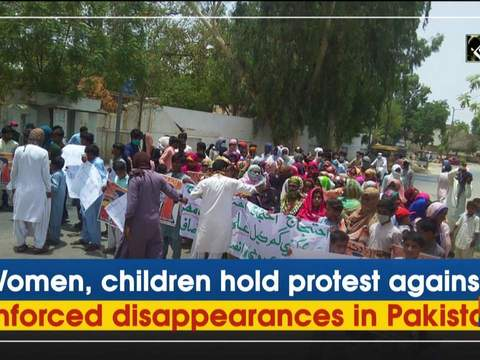 Women, children hold protest against enforced disappearances in Pakistan