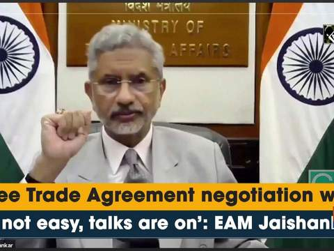 'Free Trade Agreement negotiation with EU not easy, talks are on': EAM Jaishankar