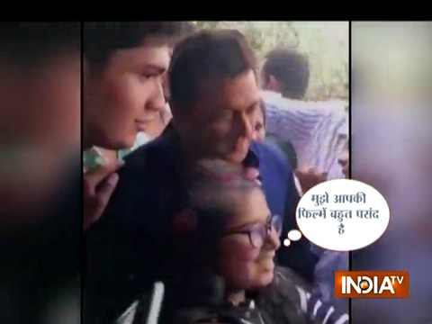 After being released on bail Salman Khan spends time with cute little fans, eats ice cream