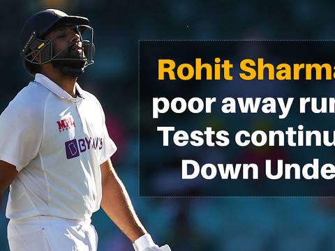 विदेशी सरजमीं पर टेस्ट क्रिकेट में रोहित शर्मा का रिकॉर्ड बढ़ा सकता है टीम इंडिया की चिंता