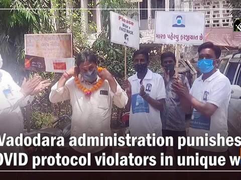 Vadodara administration punishes COVID protocol violators in unique way