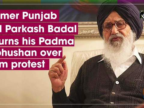 Former Punjab CM Parkash Badal returns his Padma Vibhushan over farm protest
