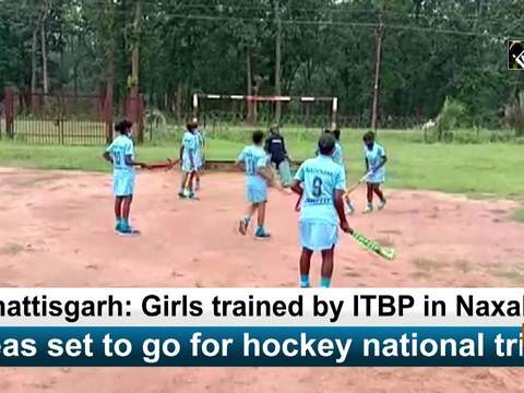 Chhattisgarh: Girls trained by ITBP in Naxal-hit areas set to go for hockey national trials