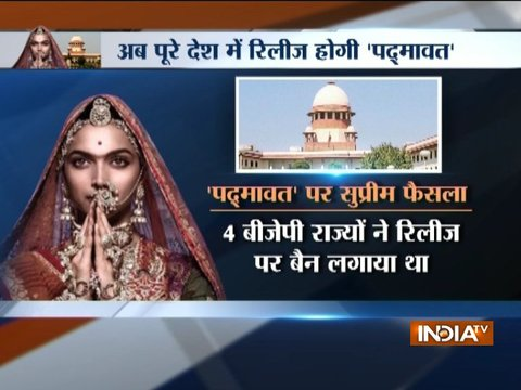 Supreme Court gives green signal to 'Padmaavat', movie to release across India
