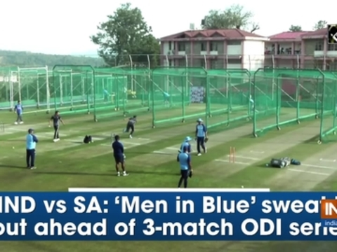 IND vs SA: 'Men in Blue' sweat it out ahead of 3-match ODI series
