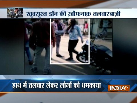 Video of a girl with sword, roaming on the street of Surat goes viral on social media