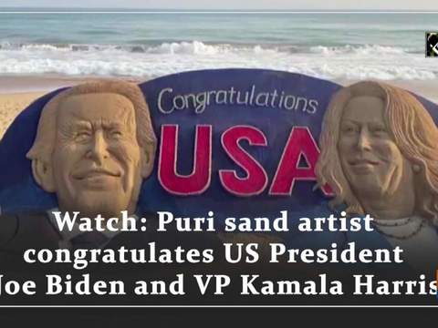 Watch: Puri sand artist wishes US President Joe Biden and VP Kamala Harris