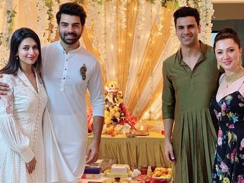 Divyanka Tripathi and husband Vivek Dahiya's Ganesh Chaturthi 2019 celebration