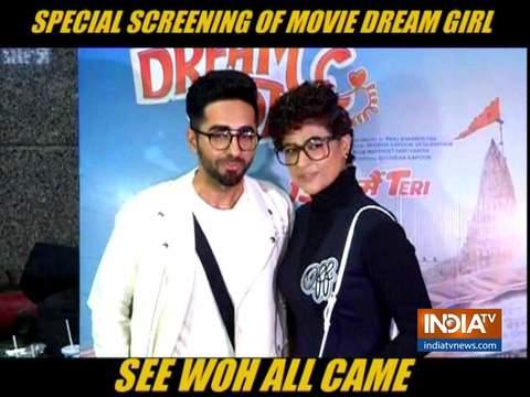 मुंबई में हुई आयुष्मान खुराना की फिल्म 'ड्रीम गर्ल' की स्पेशल स्क्रीनिंग