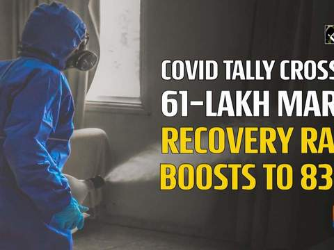 COVID tally crosses 61-lakh mark, recovery rate boosts to 83%