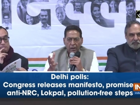 Delhi polls: Congress releases manifesto, promises anti-NRC, Lokpal, pollution-free steps