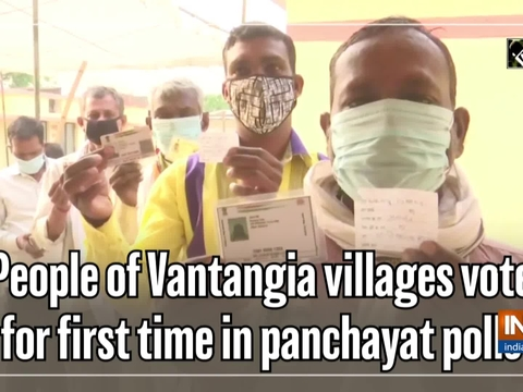 People of Vantangia villages vote for first time in panchayat polls