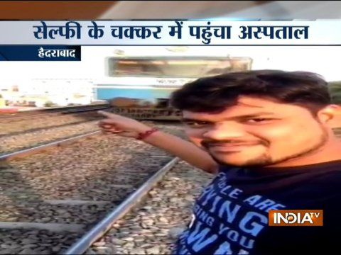 Man tries taking selfie in front of moving train, admitted to hospital