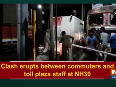 Clash erupts between commuters and toll plaza staff at NH30