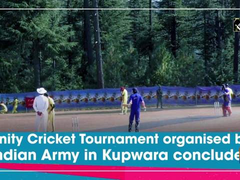 Unity Cricket Tournament organised by Indian Army in Kupwara concludes