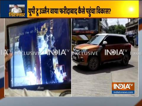 How gangster Vikas Dubey reached Ujjain from Faridabad?