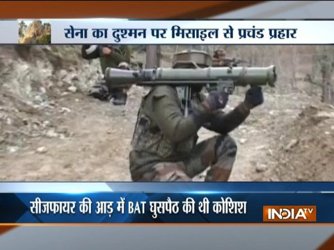 Video shows Indian Army destroying Pakistani bunkers with missiles