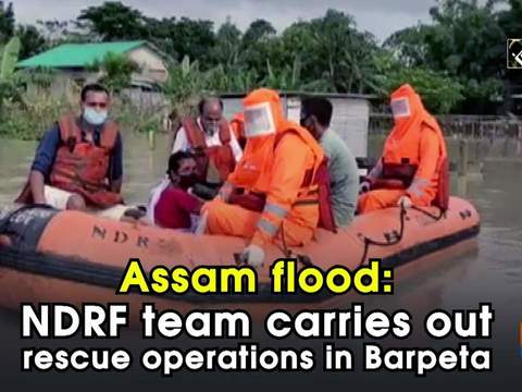 Assam flood: NDRF team carries out rescue operations in Barpeta