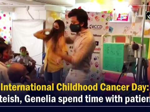 International Childhood Cancer Day: Riteish, Genelia spend time with patients
