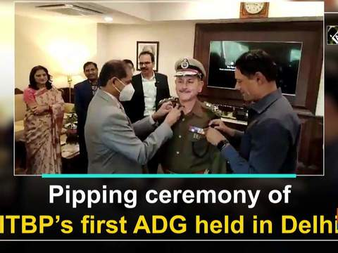 Pipping ceremony of ITBP's first ADG held in Delhi