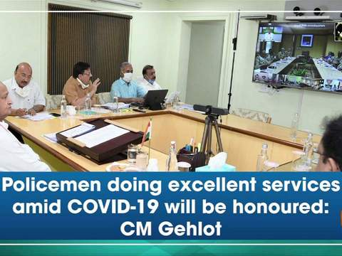 Policemen doing excellent services amid COVID-19 will be honoured: CM Gehlot