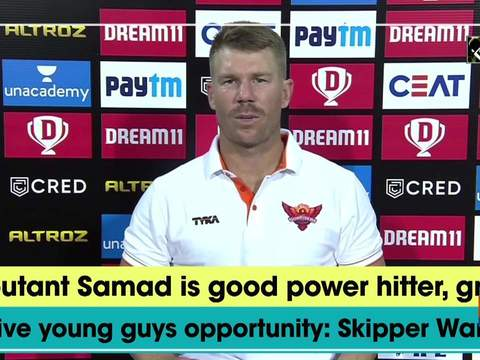 Debutant Samad is good power hitter, great to give young guys opportunity: Skipper Warner