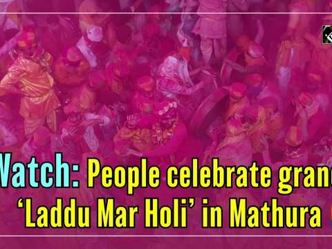 Watch: People celebrate grand 'Laddu Mar Holi' in Mathura