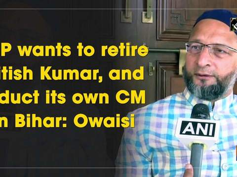 BJP wants to retire Nitish Kumar, and induct its own CM in Bihar: Owaisi
