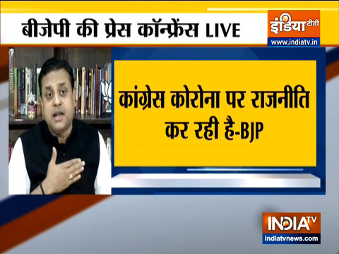 Congress party is doing politics in this covid time: BJP's Sambit Patra