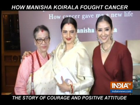 Manisha Koirala launches book on her cancer journey