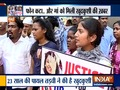 Friends and parents of Payal Tadvi protest outside Nair hospital in Mumbai, demand justice