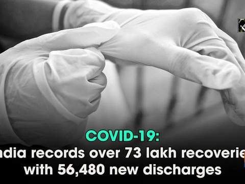 COVID-19: India records over 73 lakh recoveries with 56,480 new discharges