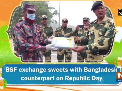 BSF exchange sweets with Bangladesh counterpart on Republic Day