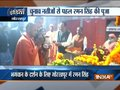 UP CM Adityanath, Chhattisgarh CM Raman Singh offer prayers at Gorakhnath Temple in Gorakhpur