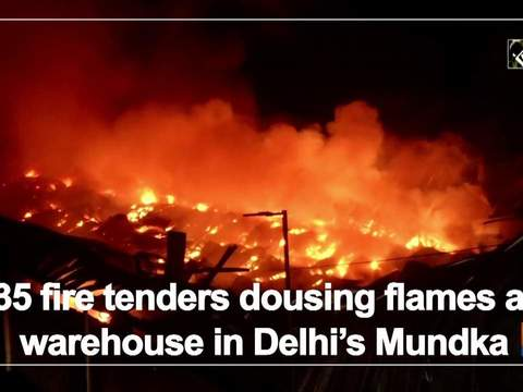 35 fire tenders dousing flames at warehouse in Delhi's Mundka