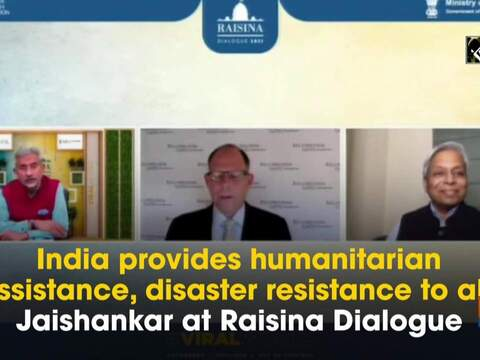 India provides humanitarian assistance, disaster resistance to all: Jaishankar at Raisina Dialogue
